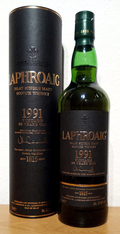 Laphroaig 1991 Vintage 23 Years old 1st Fill Sherry & Refill Hogsheads