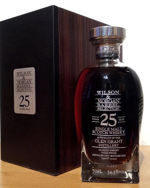 Glen Grant 1993 Bottled 2018 by Wilson & Morgan Oloroso Sherry Wood 25 Years old