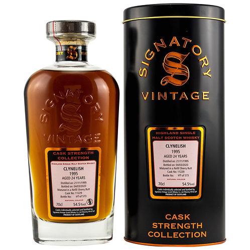 Clynelish 1995 Signatory Vintage 24 years old Cask 11229 Strength Collection