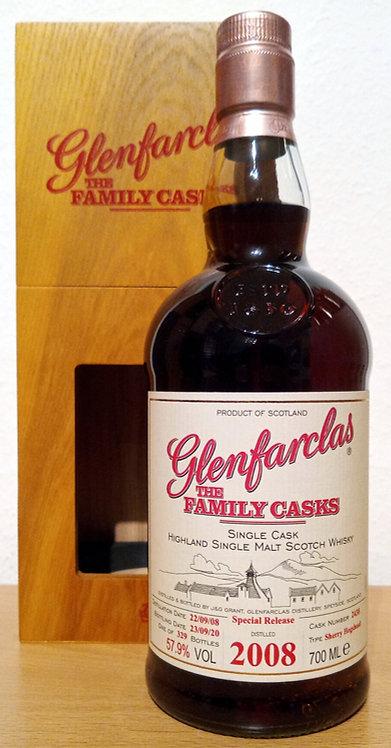 Glenfarclas 2008 The Family Casks 12 Years 1st Fill Sherry Hogshead 2438