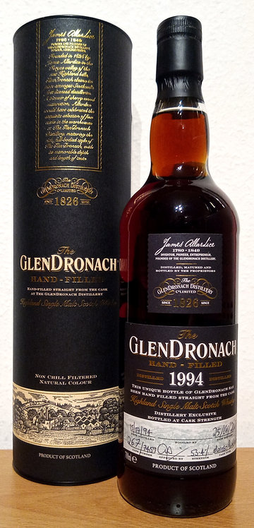 Glendronach 1994 Single Cask 7459 Oloroso Puncheon 25 Years old Hand-filled