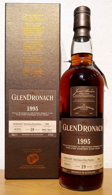 Glendronach 1995 Cask 3806 PX Sherry Puncheon 19 Years old