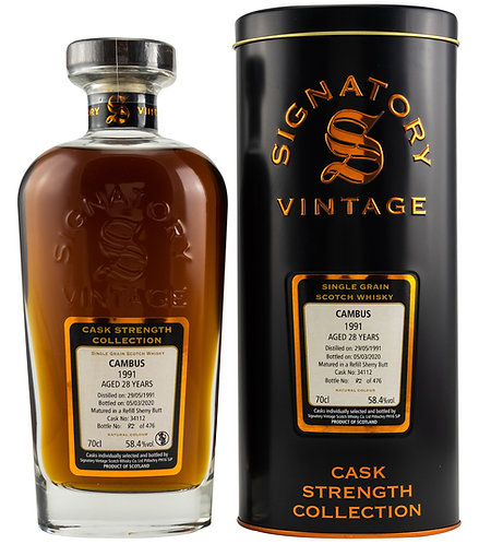 Cambus 1991 Signatory Vintage 28 years old Refill Sherry Butt 34112