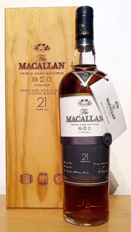 Macallan 21 Years Fine Oak Triple Cask Matured Single Malt