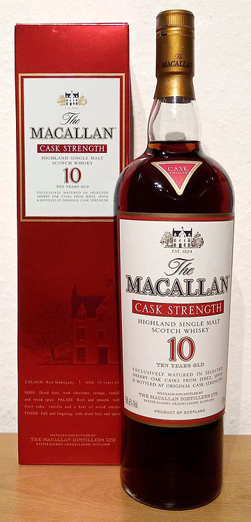 Macallan Cask Strength Sherry Oak 10 Years old Bottled 2007