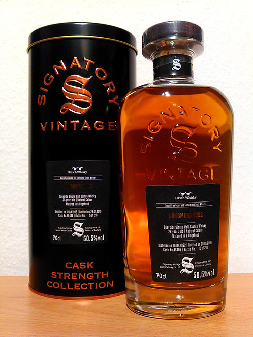 Longmorn 1992 Signatory Vintage 26 Years old Cask 48495 Strength Collection