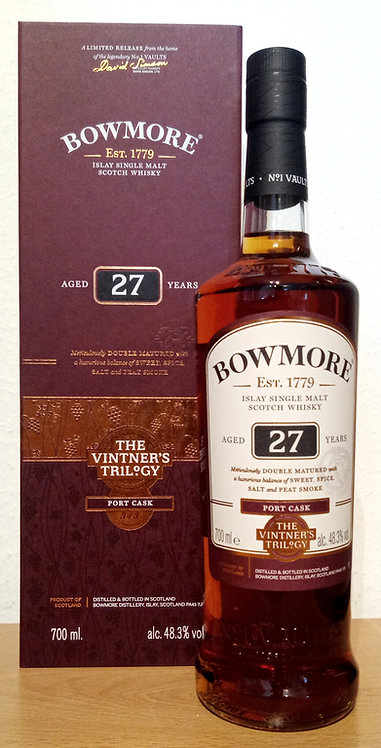 Bowmore The Vintner's Trilogy 27 Years old Ex-Bourbon Barrels & Port Pipes