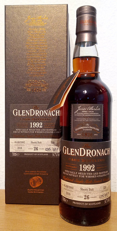 Glendronach 1992 Single Cask 220 Sherry Butt 26 Years old