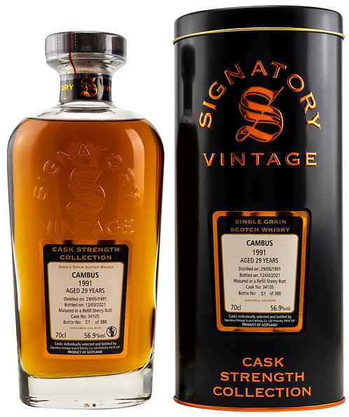 Cambus 1991 Signatory Vintage 29 years old Refill Sherry Butt 34105