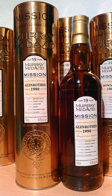 Glenrothes 1990 Murray McDavid 19 Years old Mission Gold