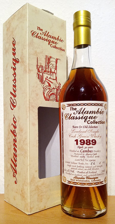 Cambus 1989 Alambic Classique Rare & Old 30 Years old Sherry Cask 19094