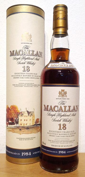 Macallan 18 Years 1984 Single Malt Sherry Oak Casks + Dose