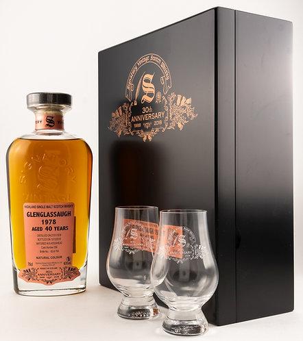 Glenglassaugh 1978 / 2018 Signatory Vintage 30th Anniversary + 2 Gläser