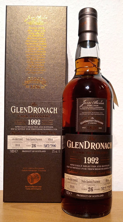 Glendronach 1992 Cask 8314 PX Sherry Puncheon 26 Years old