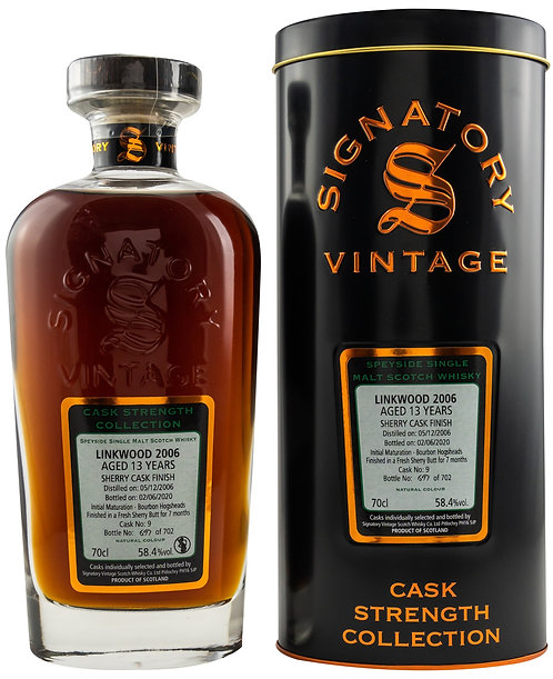 Linkwood 2006 Signatory Vintage 13 years old Cask 9 Strength Collection