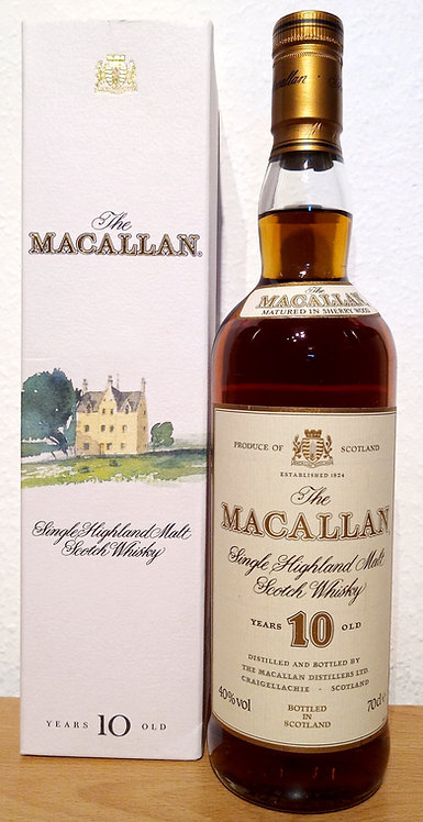 Macallan 10 Years old Sherry Oak Old Label Distillery Bottling