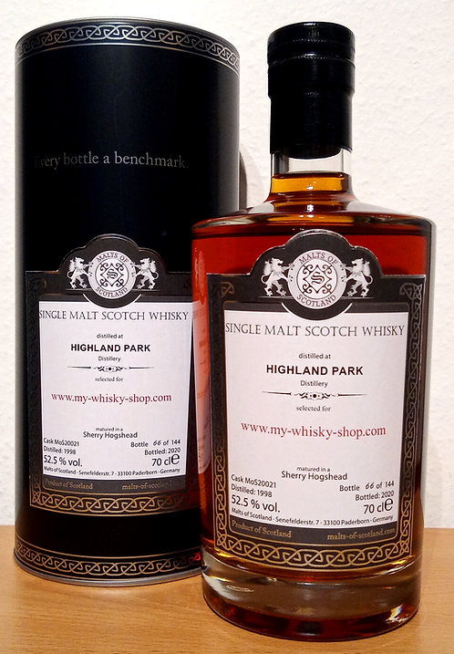 Highland Park 1998 Malts of Scotland 22 Years old Cask 20021