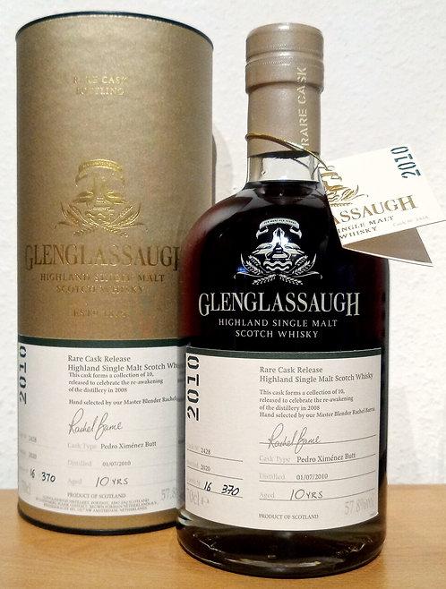 Glenglassaugh 2010 Bottled 2020 Rare Cask Release 10 Years old
