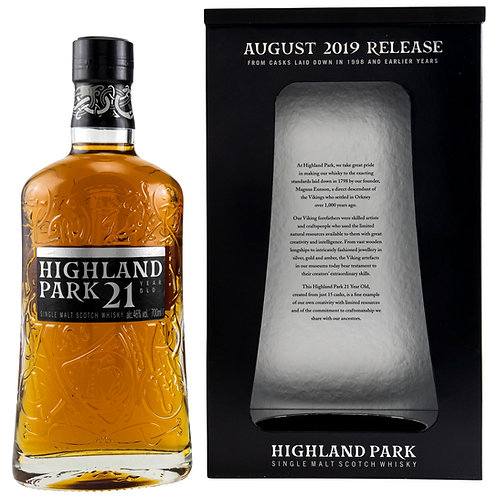 Highland Park 21 Release 2019 European & American 1st Fill Sherry + Refill Cask