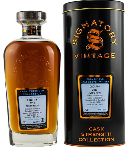 Caol Ila 2010 Signatory Vintage 9 years old Refill Sherry Butt 316648