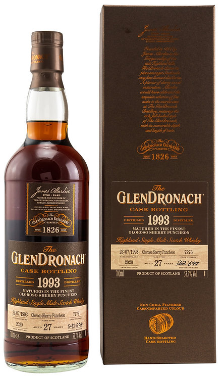 Glendronach 1993 Single Cask 7276 Oloroso Sherry Puncheon 27 Years old