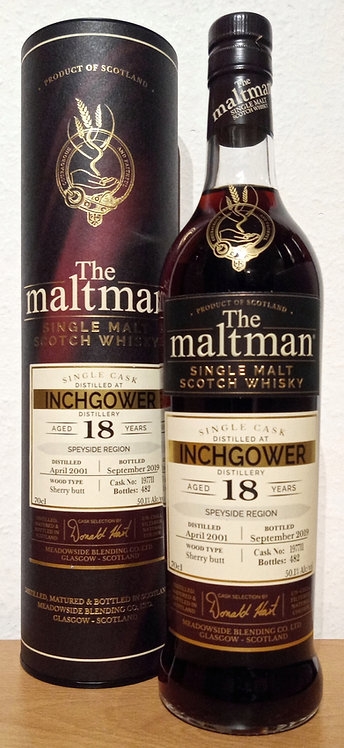 Inchgower 2001 The Maltman 18 Years old Sherry Butt Cask 197711