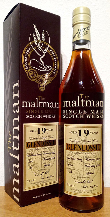 Glenlossie 1997 The Maltman 19 Years old Pedro Ximénez Sherry Cask 600