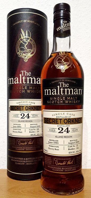 Secret Orkney Distillery 1995 The Maltman 24 Years old Sherry Butt 101