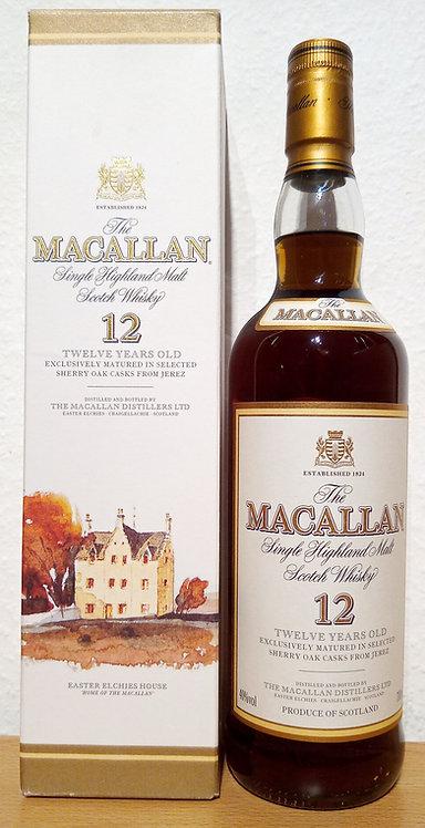 Macallan 12 Years old Sherry Oak Old Label Distillery Bottling