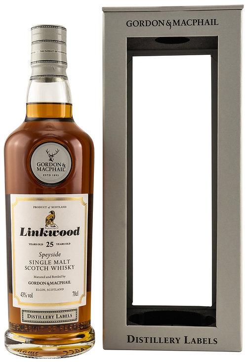 Linkwood 25 Gordon & MacPhail Sherry Casks 25 Years old Distillery Labels