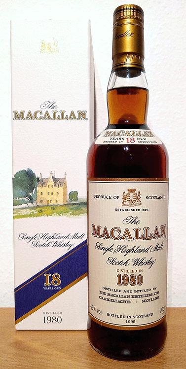 Macallan 18 Years 1980 Single Malt Sherry Oak Casks + Box