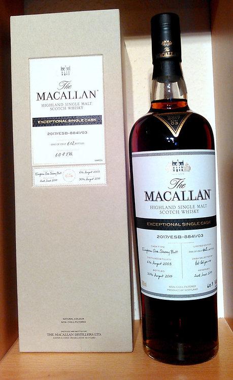 Macallan 2003 - 2017 Exceptional Single Cask No. 3 Sherry Butt