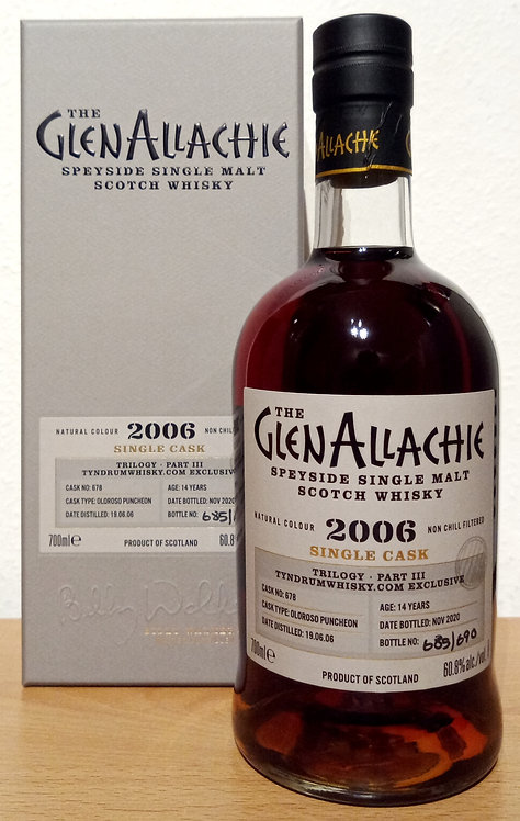Glenallachie 2006 Trilogy Part III Oloroso Puncheo 14 Years old Cask 678