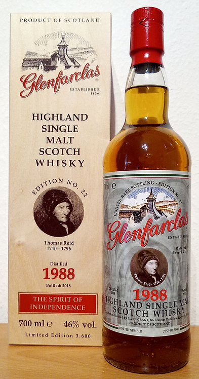 Glenfarclas 1988 Edition No. 22 Thomas Reid 30 Years old Sherry Casks