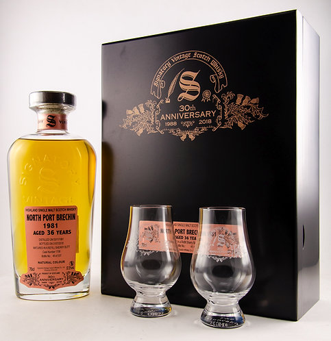 North Port 1981 / 2018 Signatory Vintage 30th Anniversary + 2 Gläser
