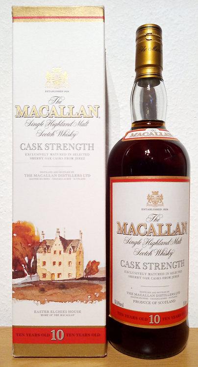 Macallan 10 Years Cask Strength old Sherry Oak Old Label Distillery Bottling
