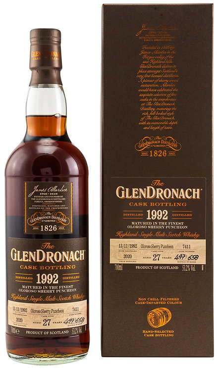 Glendronach 1992 Single Cask 7411 Oloroso Sherry Puncheon 27 Years old