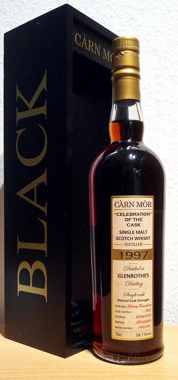 Glenrothes 1997 Cárn Mór 22 Years old Celebration of Cask 7168 Black & Gold