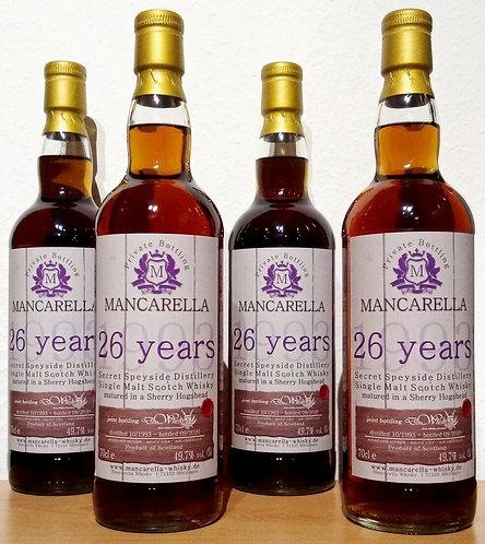 Secret Speyside Distillery 1993 Mancarella 26 Years old Sherry Hogshead