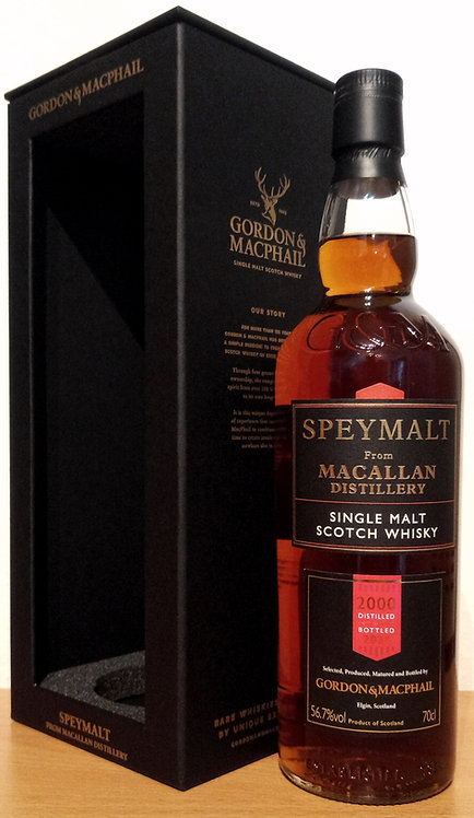 Macallan 2000 Bottled 2020 by Gordon & MacPhail 20 Years old