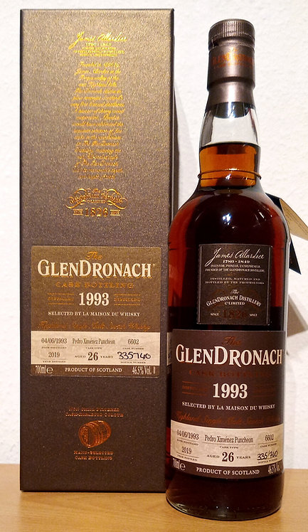 Glendronach 1993 Cask 6602 PX Sherry Puncheon 26 Years old