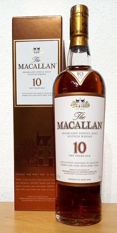 Macallan 10 Years old Sherry Oak Casks old Distillery Bottling