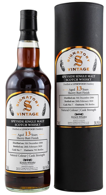 Linkwood 2006 / 2020 Signatory Vintage Sherry Butt Finish 13 Years old Cask 7