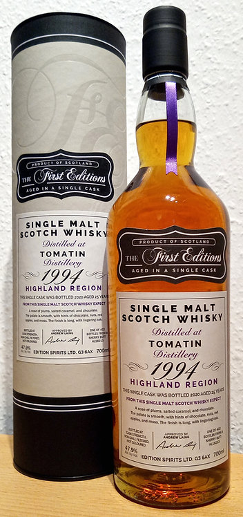 Tomatin 1994 First Editions 25 Years old Sherry Butt Cask HL 18213