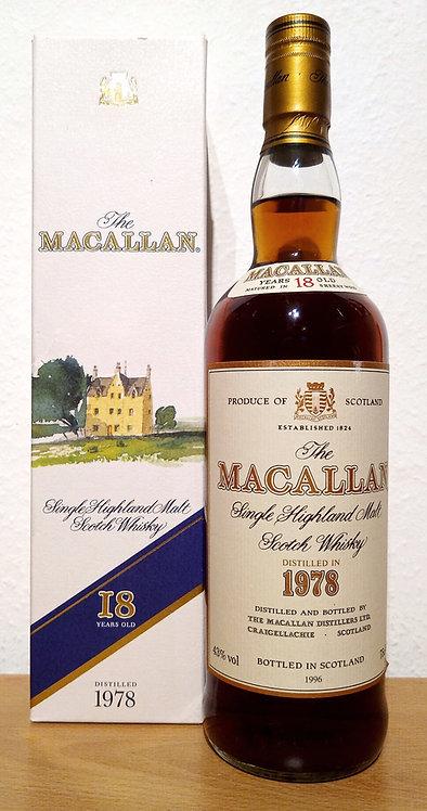 Macallan 18 Years 1978 Single Malt Sherry Oak Casks + Box