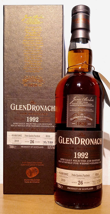 Glendronach 1992 Single Cask 8318 PX Puncheon 26 Years old