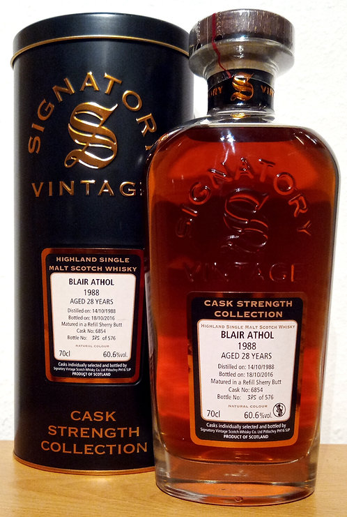 Blair Athol 1988 Signatory Vintage 28 years old Cask 6854 Strength Collection
