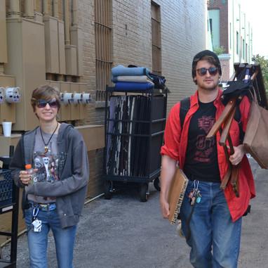 7 AM Scripty arrives on set
