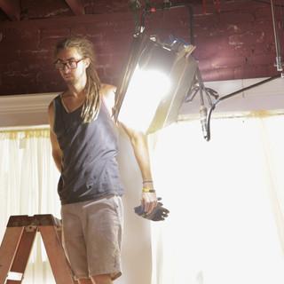 Gaffer Hangs Lights