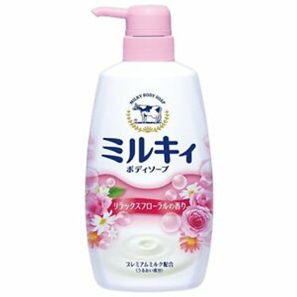 COW MILKY BODY SOAP Relax Floral Scented 550ml